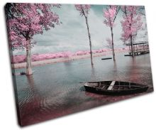 Tree Blossom Pink Sunset Seascape - 13-0477(00B)-SG32-LO